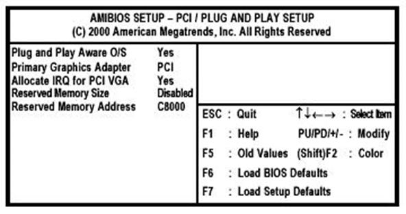 PCI-Plug-and-Play-Setup-Page