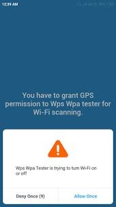 WPS WPA tester permissio